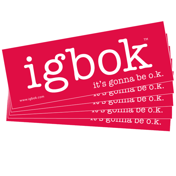 igbok stickers - 5 pack, pink