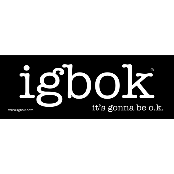igbok Sticker - black