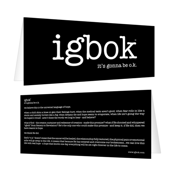 igbok Notecard - black