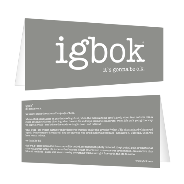igbok Notecard - grey