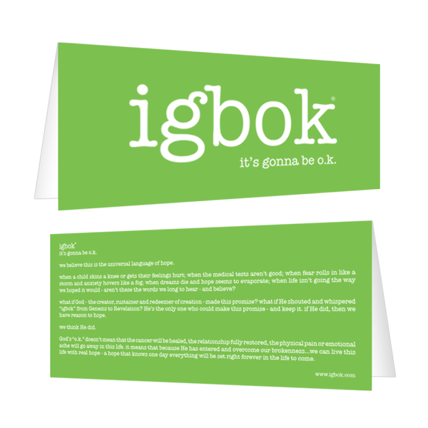 igbok Notecard - lime